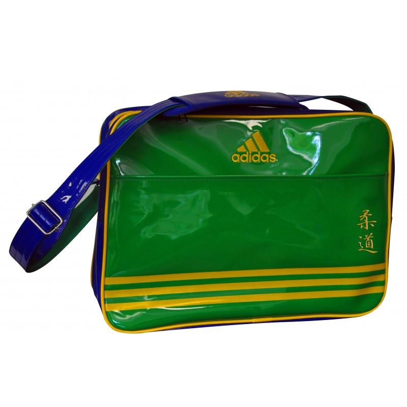 sac de sport de combat adidas en bandouli re bleu vert et jaune. Black Bedroom Furniture Sets. Home Design Ideas