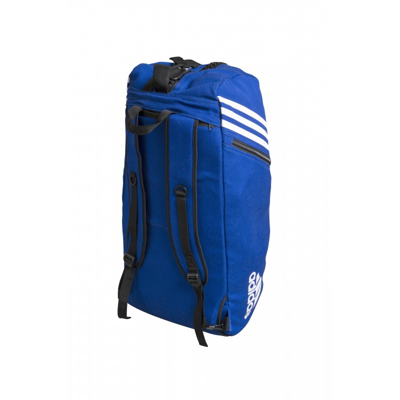 sac judo convertible adidas bleu sac de sport de combat 2 en 1. Black Bedroom Furniture Sets. Home Design Ideas
