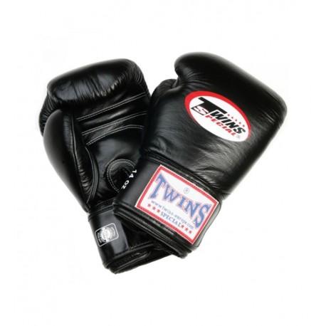 Gant de Boxe Twins Cuir Noir BGN