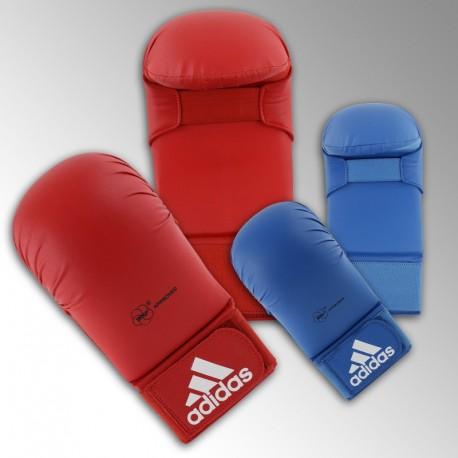 Mitaines de Karaté Adidas WKF rouge ou bleu
