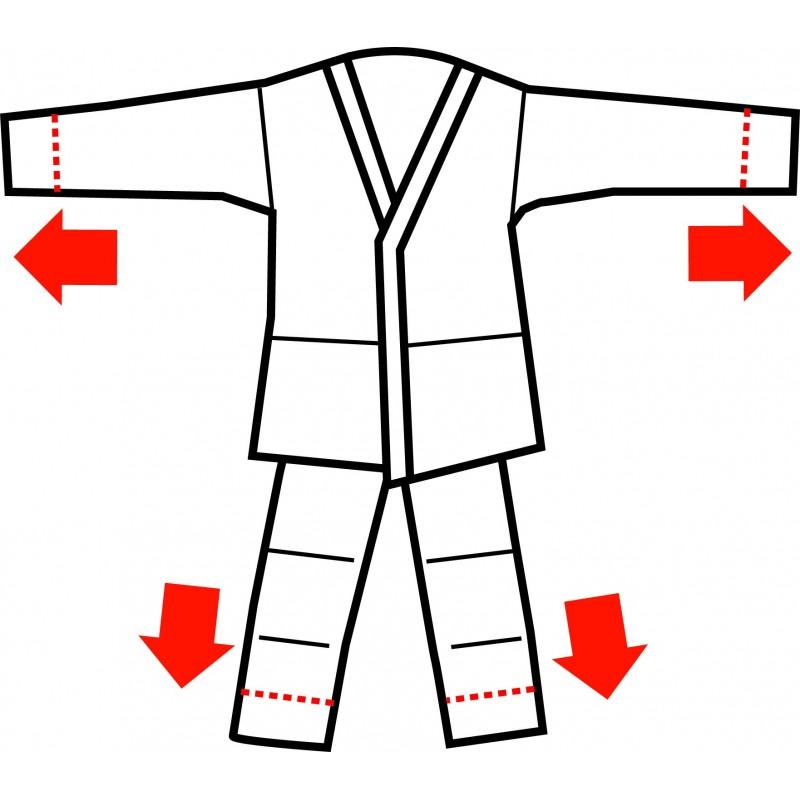 Kimono Adidas J250 Judo Initiation Enfant, Système
